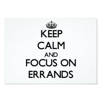 """Keep Calm and focus on ERRANDS 5"""" X 7"""" Invitation Card"""