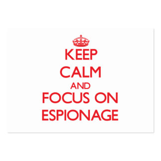 Keep Calm and focus on ESPIONAGE Large Business Cards (Pack Of 100)