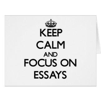 Keep Calm and focus on ESSAYS Card