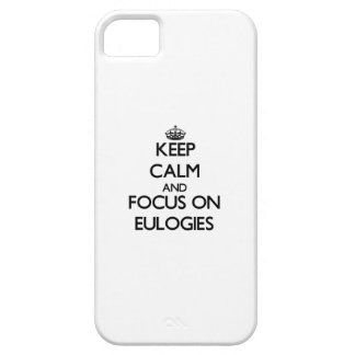 Keep Calm and focus on EULOGIES iPhone 5 Cover