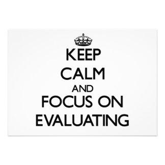 Keep Calm and focus on EVALUATING Custom Invitation