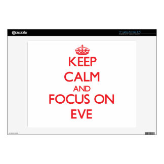Keep Calm and focus on EVE Laptop Skins