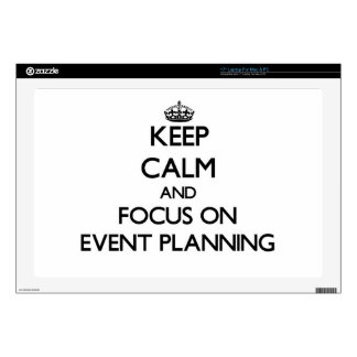 Keep Calm and focus on EVENT PLANNING Laptop Decals