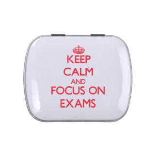 Keep Calm and focus on EXAMS Jelly Belly Tin
