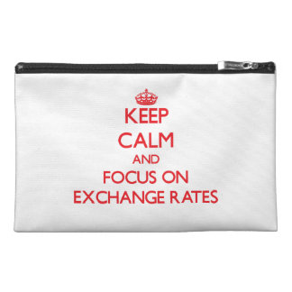 Keep Calm and focus on EXCHANGE RATES Travel Accessories Bags