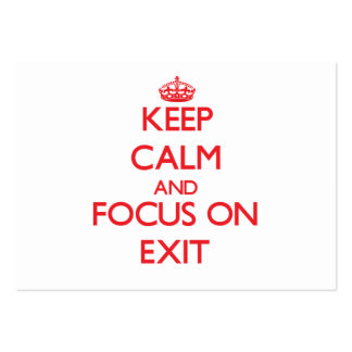 Keep Calm and focus on Exit Large Business Cards (Pack Of 100)