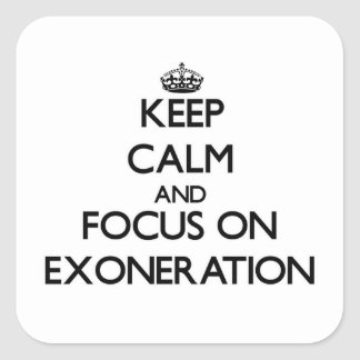 Keep Calm and focus on EXONERATION Stickers