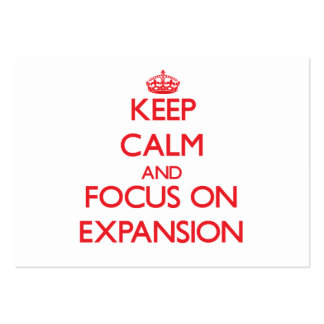 Keep Calm and focus on EXPANSION Business Card Template