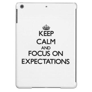 Keep Calm and focus on EXPECTATIONS iPad Air Case