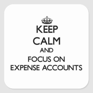 Keep Calm and focus on EXPENSE ACCOUNTS Sticker