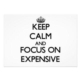 Keep Calm and focus on EXPENSIVE Custom Invitations