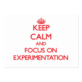 Keep Calm and focus on EXPERIMENTATION Business Card Template
