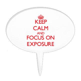 Keep Calm and focus on EXPOSURE Cake Picks