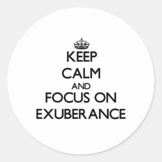 Keep Calm and focus on EXUBERANCE Sticker