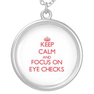 Keep Calm and focus on EYE CHECKS Custom Jewelry