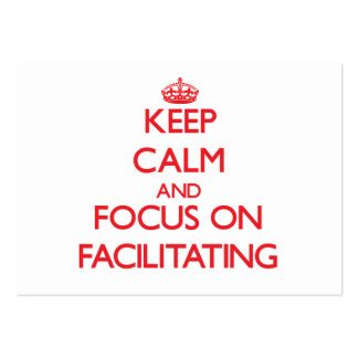 Keep Calm and focus on Facilitating Large Business Cards (Pack Of 100)
