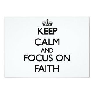 Keep Calm and focus on Faith 5x7 Paper Invitation Card