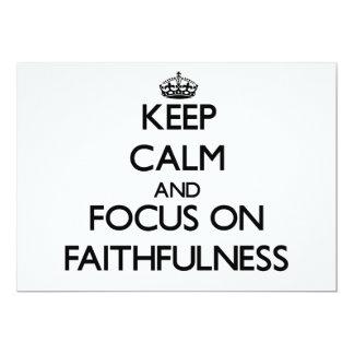 Keep Calm and focus on Faithfulness 5x7 Paper Invitation Card