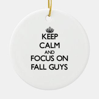 Keep Calm and focus on Fall Guys Christmas Tree Ornament
