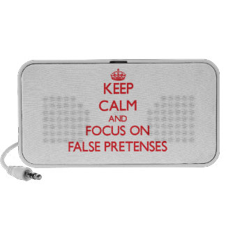 Keep Calm and focus on False Pretenses Notebook Speakers