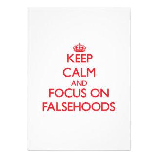 Keep Calm and focus on Falsehoods Announcements