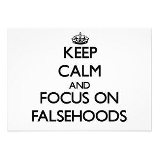 Keep Calm and focus on Falsehoods Invitations