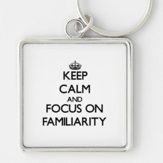 Keep Calm and focus on Familiarity Key Chains