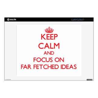 """Keep Calm and focus on Far Fetched Ideas 14"""" Laptop Decal"""