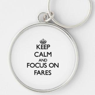 Keep Calm and focus on Fares Key Chain