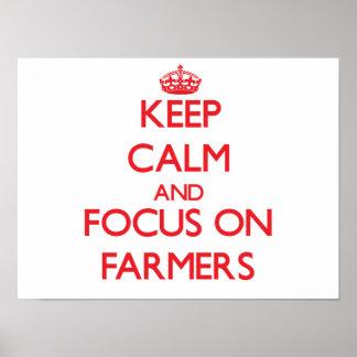 Keep Calm and focus on Farmers Print