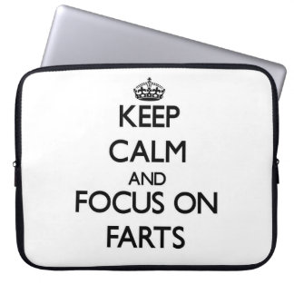 Keep Calm and focus on Farts Laptop Computer Sleeve