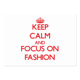 Keep Calm and focus on Fashion Business Card Template