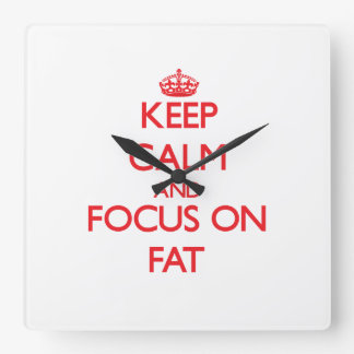 Keep Calm and focus on Fat Wall Clocks