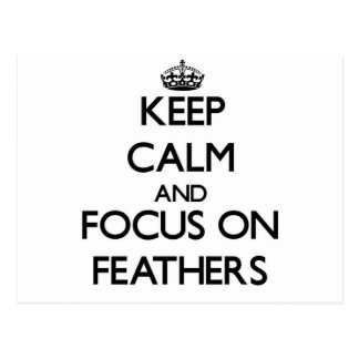 Keep calm and focus on Feathers Postcard