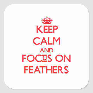 Keep Calm and focus on Feathers Stickers