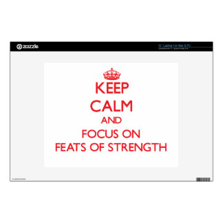"Keep Calm and focus on Feats Of Strength Decal For 12"" Laptop"
