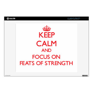"Keep Calm and focus on Feats Of Strength 14"" Laptop Decal"