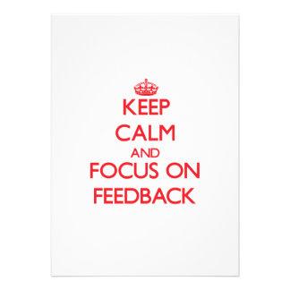 Keep Calm and focus on Feedback Custom Invitation