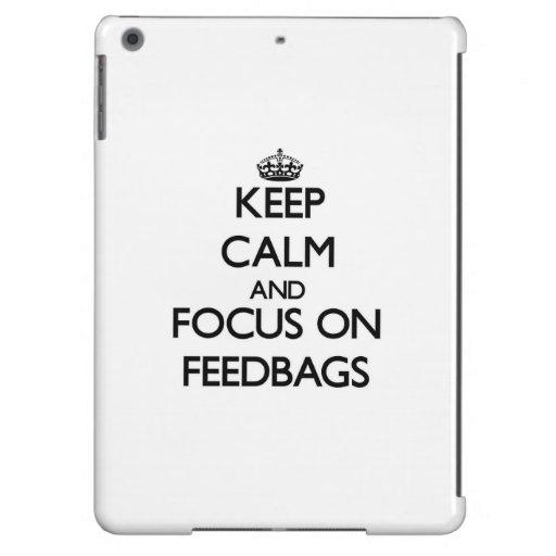 Keep Calm and focus on Feedbags iPad Air Cases