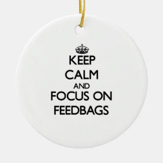 Keep Calm and focus on Feedbags Christmas Tree Ornaments