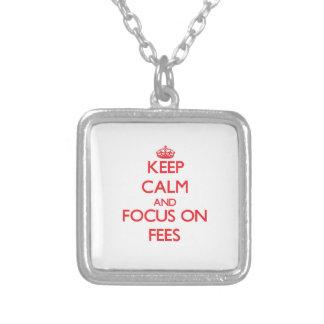 Keep Calm and focus on Fees Custom Jewelry