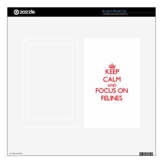 Keep Calm and focus on Felines Kindle Fire Skin