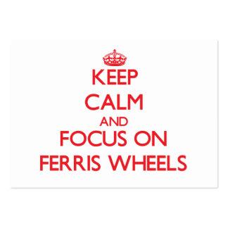 Keep Calm and focus on Ferris Wheels Business Card
