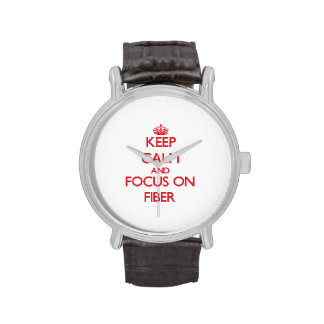 Keep Calm and focus on Fiber Wrist Watches
