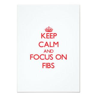 Keep Calm and focus on Fibs Announcement