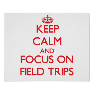 Keep Calm and focus on Field Trips Poster