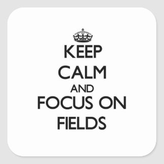 Keep Calm and focus on Fields Sticker