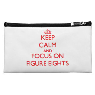 Keep Calm and focus on Figure Eights Cosmetics Bags