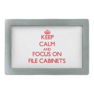 Keep Calm and focus on File Cabinets Rectangular Belt Buckles