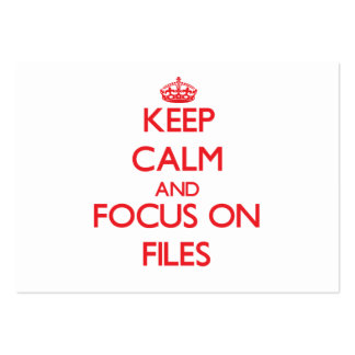 Keep Calm and focus on Files Large Business Cards (Pack Of 100)